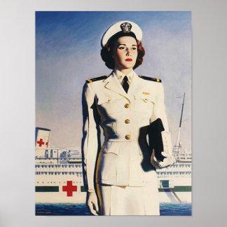 Vintage WW II Navy Nurse Poster