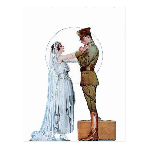 Vintage WWI Army Bride Postcards