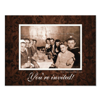 Vintage WWII Era Gathering Reunion Card