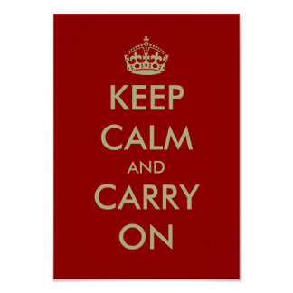 Vintage WWII keep calm posters | Customizable