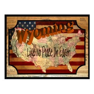 Vintage Wyoming Old Postcard