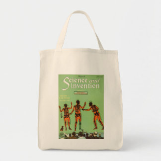 Vintage X Ray People Gun Science Fiction Invention Grocery Tote Bag