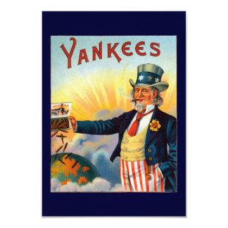 Vintage Yankees Cigar Label, Patriotic Uncle Sam 9 Cm X 13 Cm Invitation Card