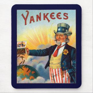 Vintage Yankees Cigar Label, Patriotic Uncle Sam Mouse Pad