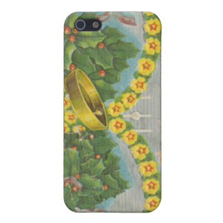 Vintage Yellow and Green Christmas Bells Cover For iPhone 5
