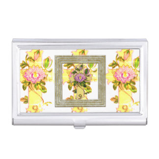 Vintage Yellow Cross Business Card Holder