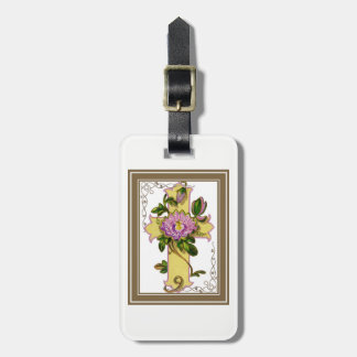Vintage Yellow Cross Luggage Tag