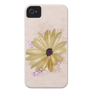 Vintage Yellow Flower BlackBerry Case