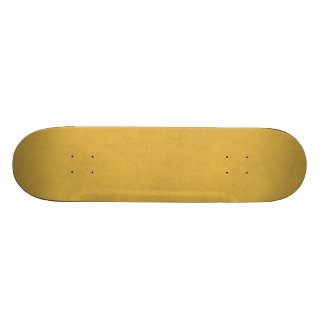 Vintage Yellow Gold Paper Parchment Background Custom Skateboard