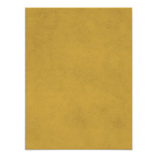 Vintage Yellow Gold Paper Parchment Background Poster