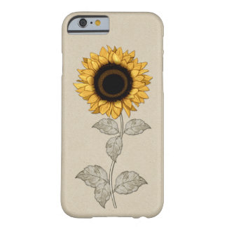 Vintage Yellow Gold Sunflower Barely There iPhone 6 Case