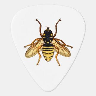 Vintage Yellow Honey Bee Plectrum