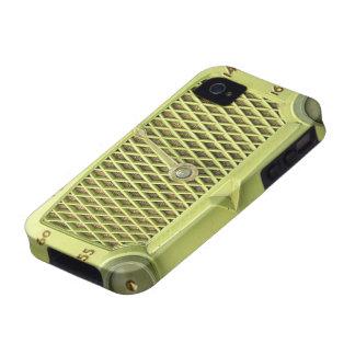 Vintage Yellow Metal Radio Case-Mate iPhone 4 Case