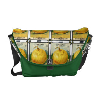 Vintage Yellow Onion Vegetable Seed Packet Messenger Bags