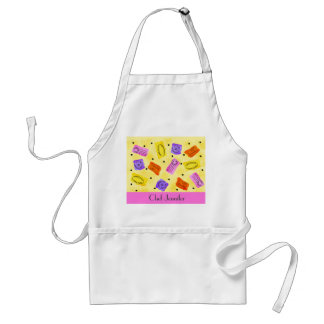 Vintage Yellow Passport Stamps Name Personalized Adult Apron