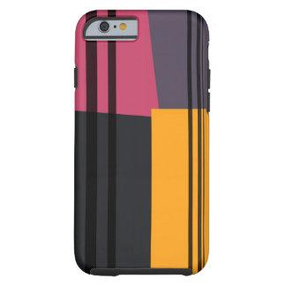 Vintage Yellow Pink Black Grey Stripes Art Pattern Tough iPhone 6 Case