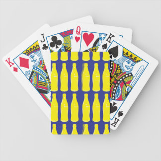 Vintage Yellow Pop Bottles Bicycle Playing Cards