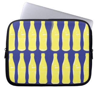 Vintage Yellow Pop Bottles Laptop Computer Sleeves