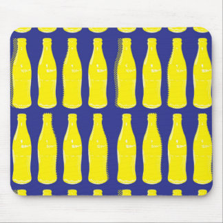 Vintage Yellow Pop Bottles Mouse Pad