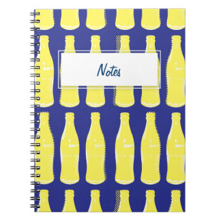 Vintage Yellow Pop Bottles Note Book