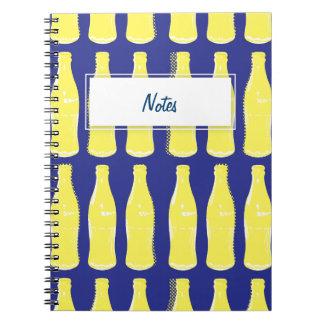 Vintage Yellow Pop Bottles Notebook