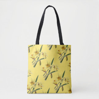 Vintage Yellow Spring Daffodils Tote Bag