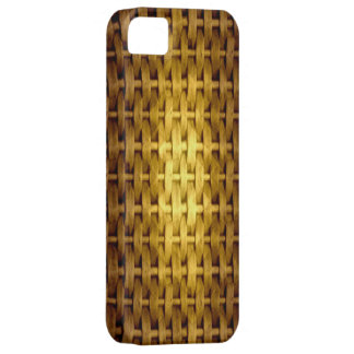 Vintage yellow wicker art graphic design iPhone 5 cover