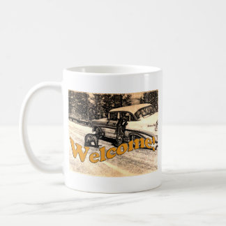 Vintage Yellowstone Black Bear and Tourist Coffee Mug