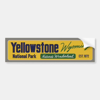 Vintage Yellowstone National Park Bumper Sticker
