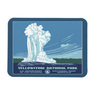 Vintage Yellowstone WPA Travel Magnet