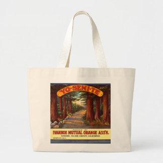 Vintage Yo-Semi-Te Orange Label Jumbo Tote Bag