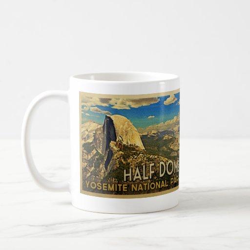 Vintage Yosemite Half Dome Coffee Mugs