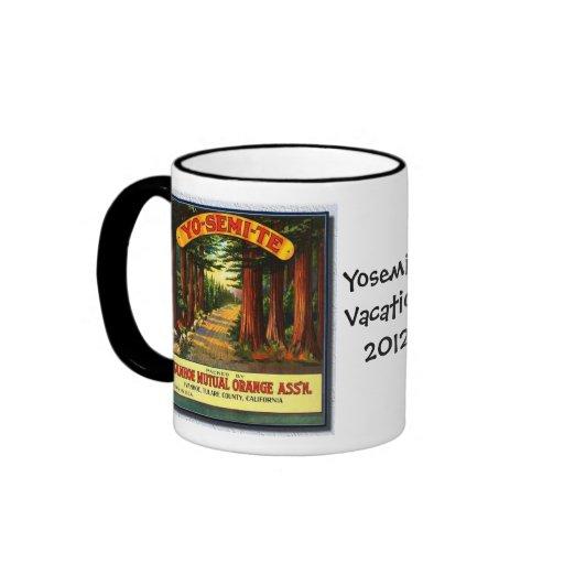 Vintage Yosemite Redwoods Vacation-Mug
