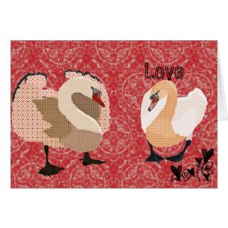 Vintage Zeb & Zenya Red Love Valentine Greeting Card