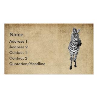 Vintage Zebra Business Card Tags