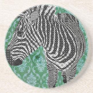 Vintage Zebra Drink Coaster