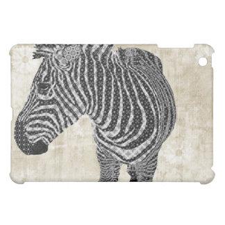 Vintage Zebra Floral Case iPad Mini Cover