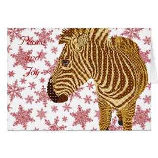 Vintage Zebra II Christmas Greeting Greeting Cards