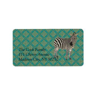 Vintage Zebra II Label Address Label