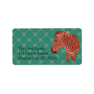 Vintage Zebra Label Address Label