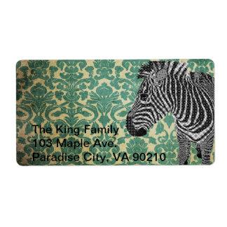 Vintage Zebra Label Shipping Label