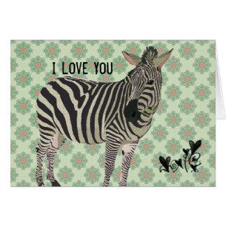 Vintage Zebra Valentine Greeting Cards