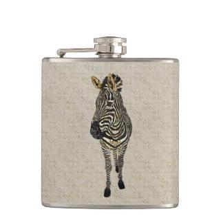 Vintage Zebra White Flask