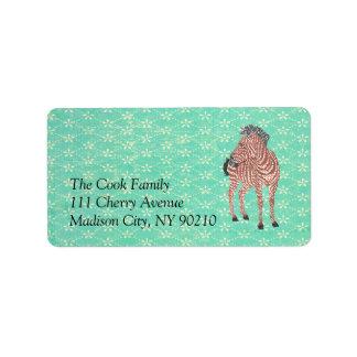 Vintage Zenya Label Address Label