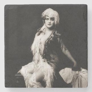 Vintage Ziegfeld Girl Stone Coaster