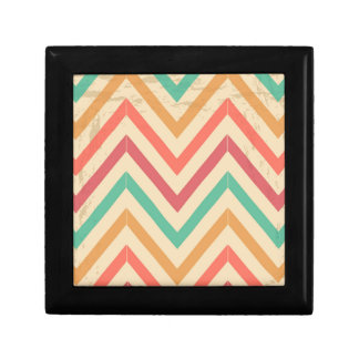 vintage zig zag small square gift box
