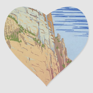 Vintage Zion Park Heart Sticker