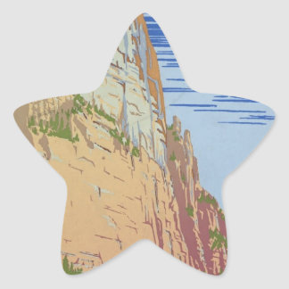 Vintage Zion Park Star Sticker
