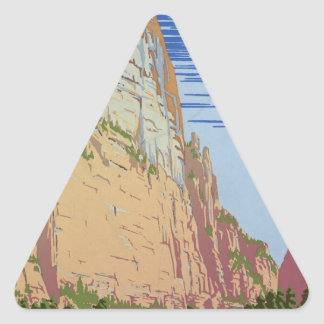 Vintage Zion Park Triangle Sticker