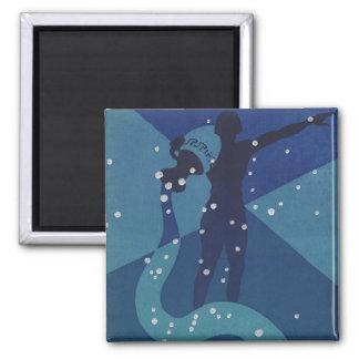 Vintage Zodiac Astrology, Aquarius Constellation Magnet